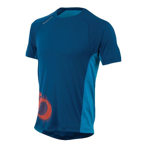 Mens Pearl Izumi Flash Graphic Short Sleeve Technical Tops - Limoges/Blue L