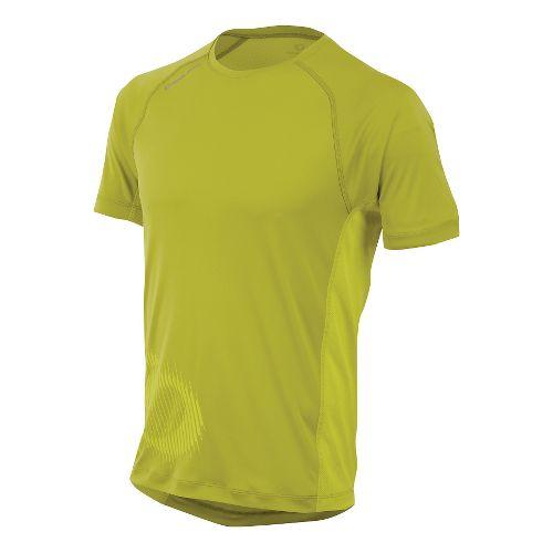 Mens Pearl Izumi Flash Graphic Short Sleeve Technical Tops - Citronelle/Sulphur M