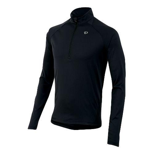 Mens Pearl Izumi Fly Long Sleeve Half Zip Technical Tops - Black XL
