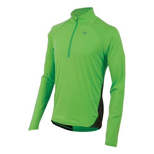 Mens Pearl Izumi Fly Long Sleeve Half Zip Technical Tops - Green Flash S