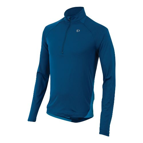 Mens Pearl Izumi Fly Long Sleeve Half Zip Technical Tops - Limoges M