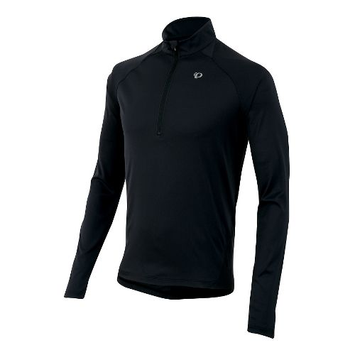 Mens Pearl Izumi Fly Long Sleeve Half Zip Technical Tops - Russet Brown S