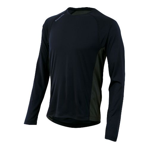 Mens Pearl Izumi Flash Long Sleeve No Zip Technical Tops - Black/Shadow Grey L