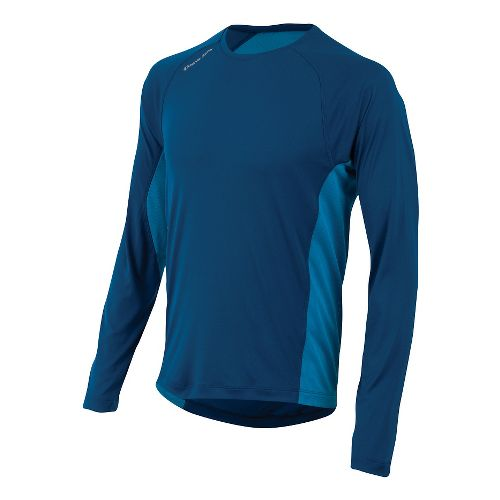 Mens Pearl Izumi Flash Long Sleeve No Zip Technical Tops - Limoges/Blue M