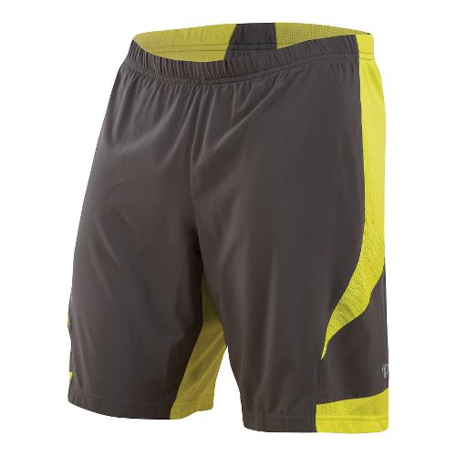 Mens Pearl Izumi Flash 2 in 1 Shorts - Shadow Grey/Sulphur S