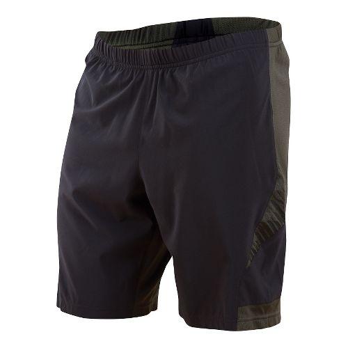Mens Pearl Izumi Flash 2 in 1 Shorts - Black/Shadow Grey L