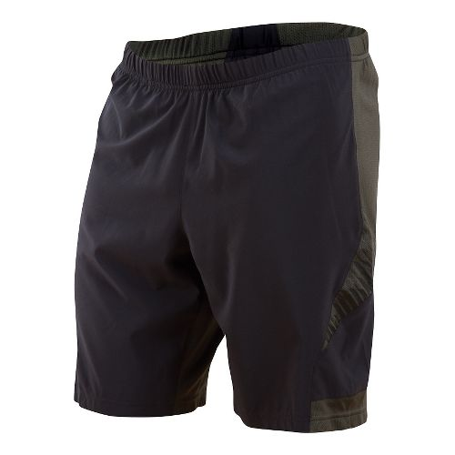 Mens Pearl Izumi Flash 2 in 1 Shorts - Shadow Grey/Sulphur M