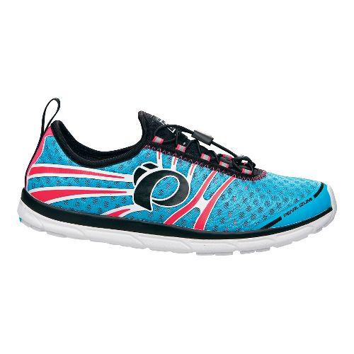 Womens Pearl Izumi EM Tri N 1 v2 Racing Shoe - Blue Atoll/Pink 5.5