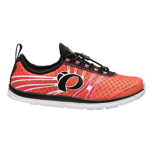 Womens Pearl Izumi EM Tri N 1 v2 Racing Shoe - Clementine/Rouge Red 9.5