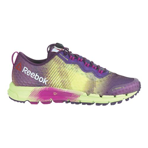 Womens Reebok All Terrain Thunder 2.0 Running Shoe - Purple/Yellow 6.5