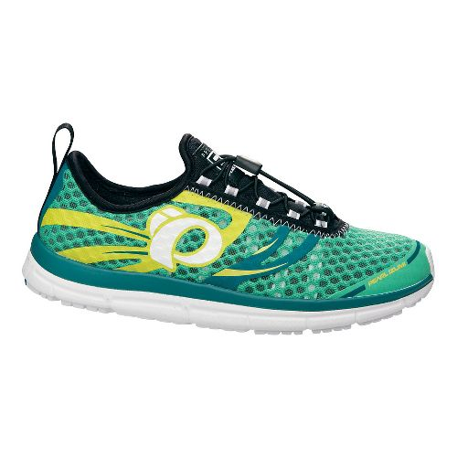Womens Pearl Izumi EM TRI N 2 v2 Racing Shoe - Gumdrop/Deep Lake 7