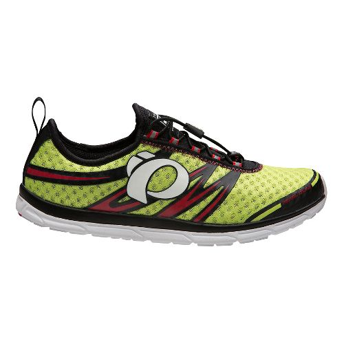 Mens Pearl Izumi EM Tri N 1 v2 Racing Shoe - Lime Punch/Black 10.5