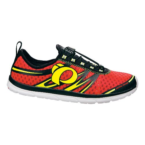 Mens Pearl Izumi EM TRI N 1 Racing Shoe - Firefly Red/Black 10.5