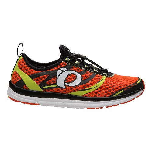Mens Pearl Izumi EM Tri N 2 v2 Racing Shoe - Orange/Lime 9.5