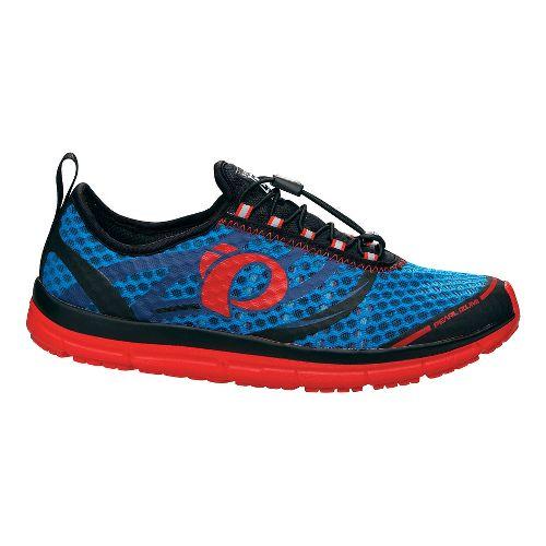 Mens Pearl Izumi EM TRI N 2 v2 Racing Shoe - Brilliant Blue/Red 10.5