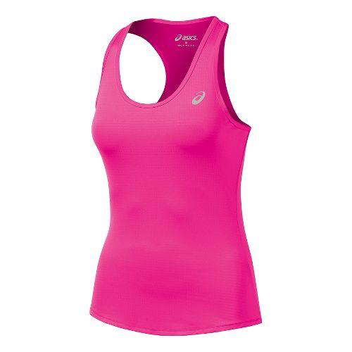 Womens ASICS Emma Racerback Tank Technical Tops - Pink Glow L