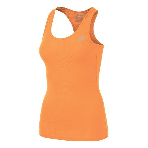 Womens ASICS Rib Racerback Sleeveless & Tank Technical Tops - Melon S