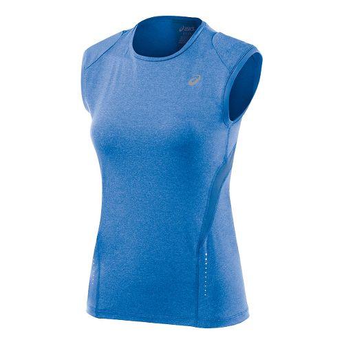Womens ASICS Sleeveless Technical Tops - Jeans Heather M