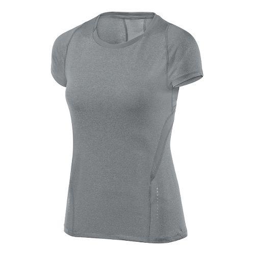 Womens ASICS Tee 1 Short Sleeve Technical Tops - Heather Grey L