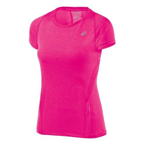 Womens ASICS Tee 1 Short Sleeve Technical Tops - Ultra Pink Heather XL