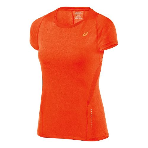 Womens ASICS Tee 1 Short Sleeve Technical Tops - Cherry Tomato Heather M