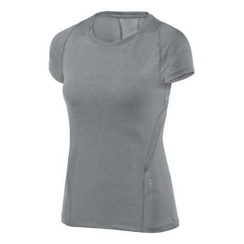 Womens ASICS Tee 1 Short Sleeve Technical Tops - Heather Grey XS