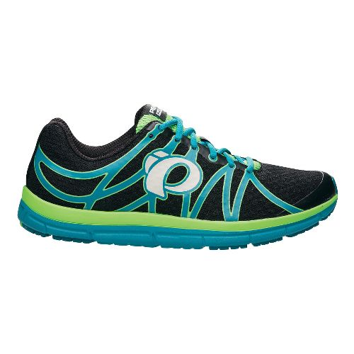 Mens Pearl Izumi EM Road M 2 v2 Running Shoe - Black/Harbor Blue 10.5