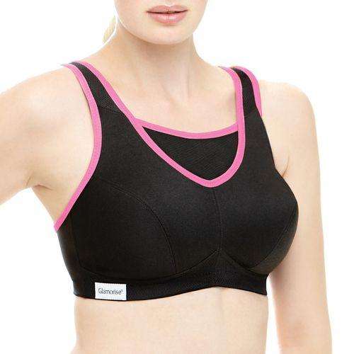 Womens Glamorise No-Bounce Cami B/C Sports Bras - Black 38C