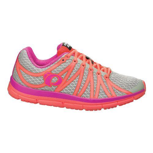 Womens Pearl Izumi EM Road M 2 v2 Running Shoe - Paloma/Rose Violet 5