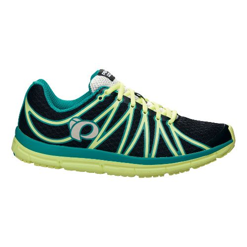 Womens Pearl Izumi EM Road M 2 v2 Running Shoe - Black/Sunny Lime 10.5