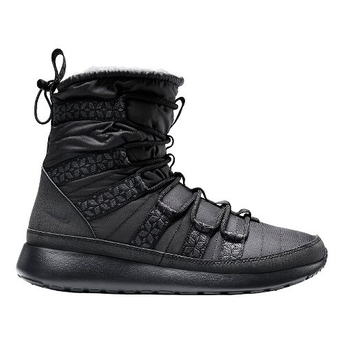 Women's Nike Roshe Run Hi Sneakerboot Casual Shoe - Black 11
