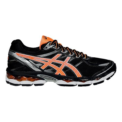 Mens ASICS GEL-Evate 3 Running Shoe - Black/Orange 8