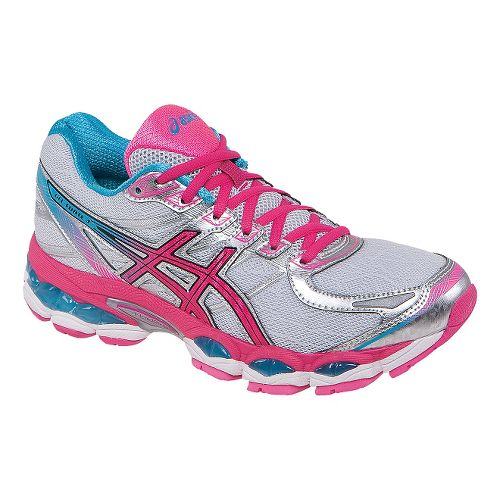 Womens ASICS GEL-Evate 3 Running Shoe - White/Pink 6.5