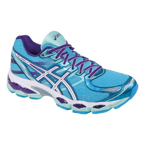 Womens ASICS GEL-Evate 3 Running Shoe - Turquoise/Purple 5