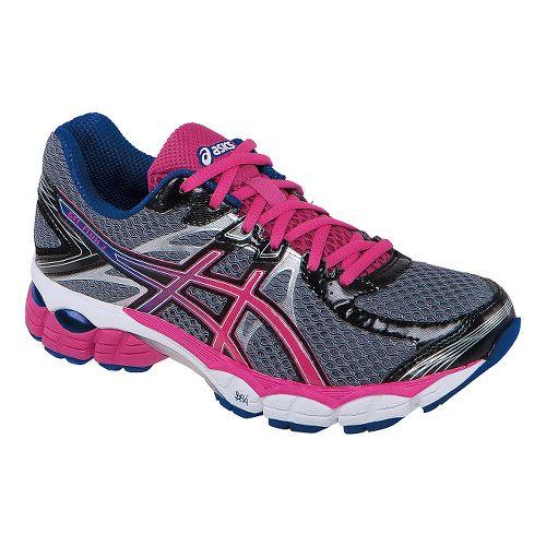Womens ASICS GEL-Flux 2 Running Shoe - Onyx/Hot Pink 7.5