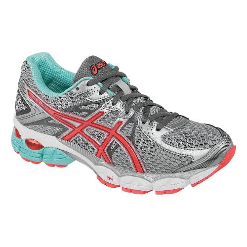 Womens ASICS GEL-Flux 2 Running Shoe - Lightning/Hot Coral 12.5