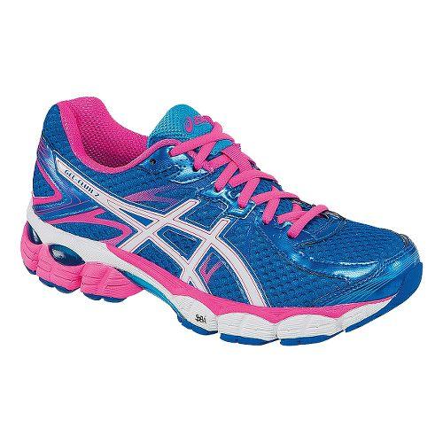 Womens ASICS GEL-Flux 2 Running Shoe - Blue/Pink 12.5