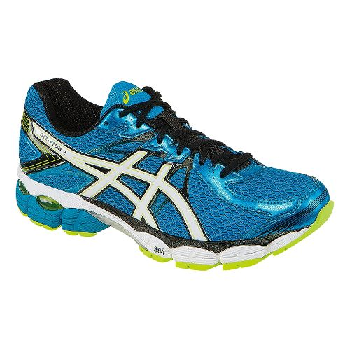 Mens ASICS GEL-Flux 2 Running Shoe - Blue/White 11.5