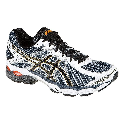 Mens ASICS GEL-Flux 2 Running Shoe - Carbon/Red 8