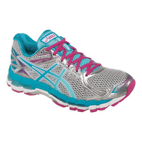 Womens ASICS GEL-Surveyor 3 Running Shoe - Lightning/Ice Blue 10.5