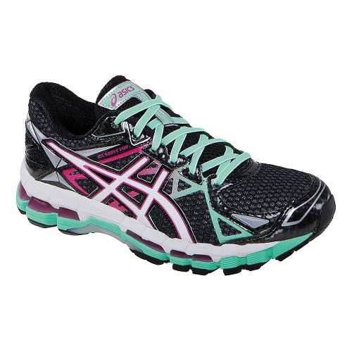 Womens ASICS GEL-Surveyor 3 Running Shoe - Onyx/Hot Pink 9.5