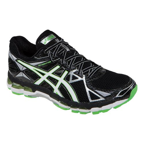 Mens ASICS GEL-Surveyor 3 Running Shoe - Black/Green 7.5