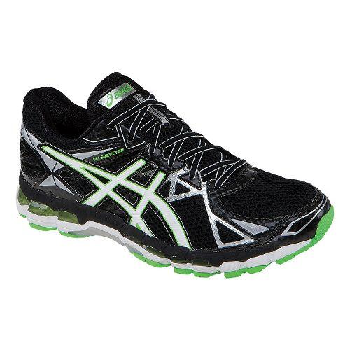 Mens ASICS GEL-Surveyor 3 Running Shoe - Black/Green 11.5