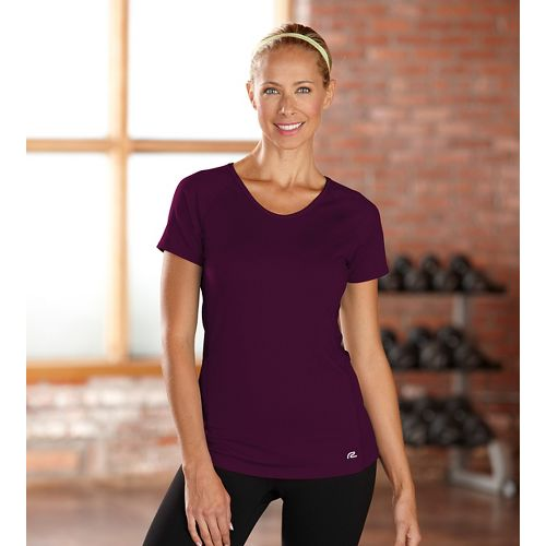 Womens R-Gear Fast and Fab Short Sleeve Technical Top - Mulberry Madness L