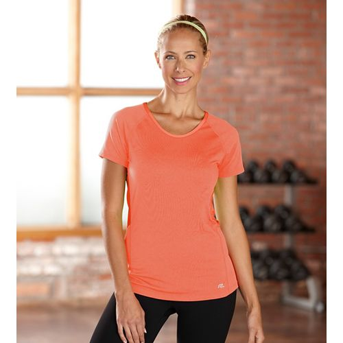 Womens R-Gear Fast and Fab Short Sleeve Technical Top - Just Peachy S