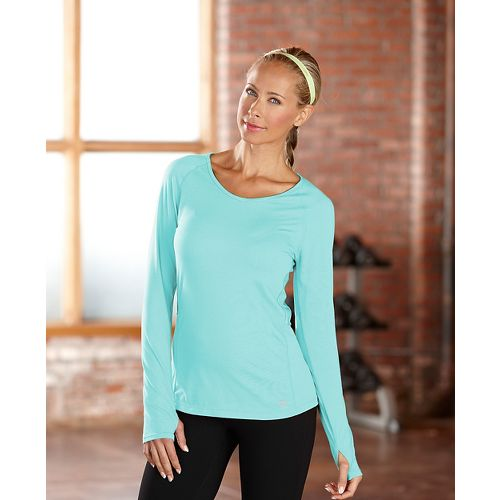 Womens R-Gear Fast and Fab Long Sleeve No Zip Technical Top - Aruba Blue S ...