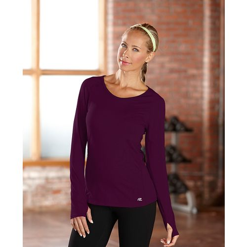 Womens R-Gear Fast and Fab Long Sleeve No Zip Technical Top - Mulberry Madness S ...