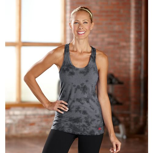 Womens R-Gear Revive Tie-Dye Racerback Tanks Technical Tops - Charcoal XS