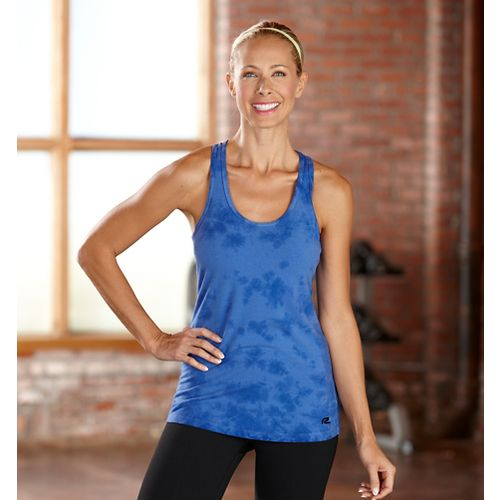 Womens R-Gear Revive Tie-Dye Racerback Tanks Technical Tops - Pacific Blue L