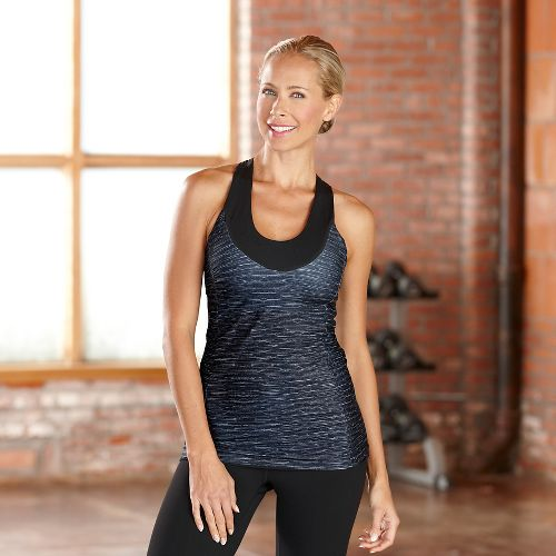 Womens R-Gear Picture Perfect Bra Tanks Sport Top Technical Tops - Charcoal XS